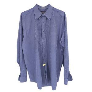Eddie Bauer Shirt Large Tall Button Down Blue Mens